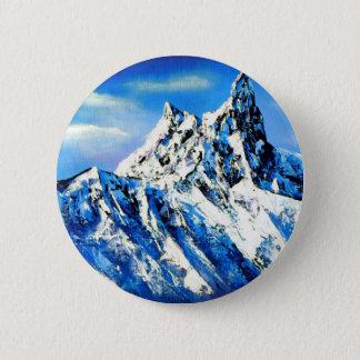 Badge Rond 5 Cm Vue panoramique de crête de montagne d'Everest