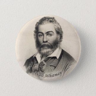 Badge Rond 5 Cm Walt Whitman gravant le bouton de Pinback
