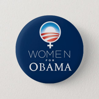 Badge Rond 5 Cm Women_for_Obama_Button