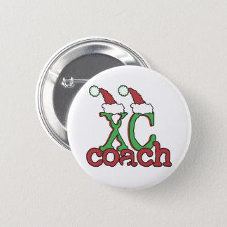Badge Rond 5 Cm XC car de pays croisé - vacances de Noël