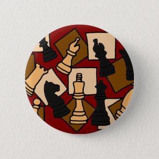 Badge Rond 5 Cm XX le jeu d'échecs impressionnant rapièce l'art