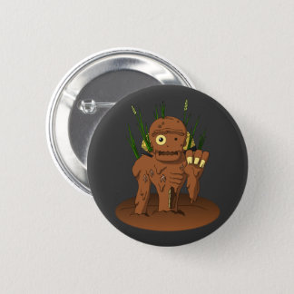 Badge Rond 5 Cm Zombi japonais Dorotabo de boue