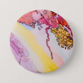 """Badge Rond 7,6 Cm 3"""" grande conception ronde du bouton w/abstract"""