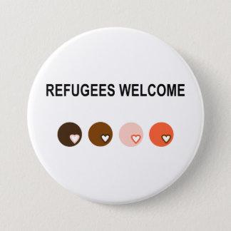 Badge Rond 7,6 Cm Accueil de réfugiés