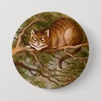 "Badge Rond 7,6 Cm Alice - chat de Cheshire - 3"" bouton"