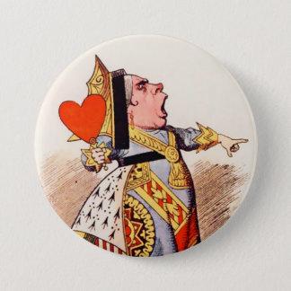"""Badge Rond 7,6 Cm Alice-Reine des coeurs 2 ou 3"""" bouton"""