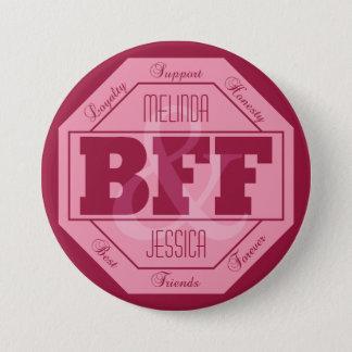 Badge Rond 7,6 Cm Amitié de BFF - noms faits sur commande - boutons