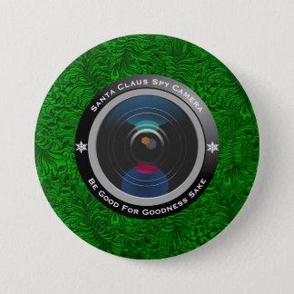 Badge Rond 7,6 Cm Appareil-photo d'espion du père noël