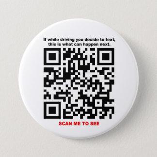 Badge Rond 7,6 Cm ARRÊTEZ le bouton de code du SERVICE DE
