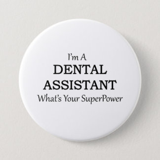 BADGE ROND 7,6 CM ASSISTANT DENTAIRE