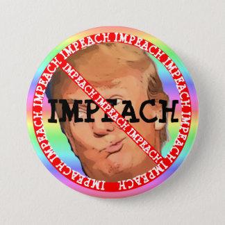 Badge Rond 7,6 Cm Attaquez le bouton de Donald Trump