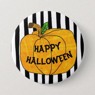 Badge Rond 7,6 Cm Autocollants heureux de citrouille de Halloween
