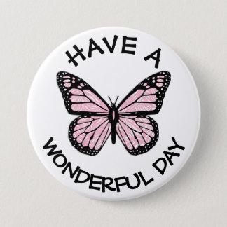 Badge Rond 7,6 Cm Ayez un beau bouton de papillon de monarque de
