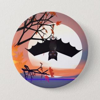 Badge Rond 7,6 Cm Batte de Halloween dans l'arbre