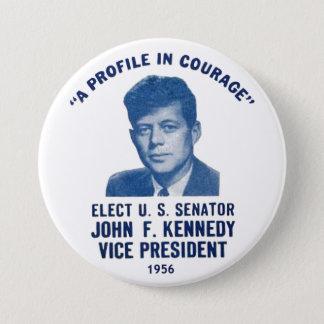 Badge Rond 7,6 Cm Borne commémorative 1956 de JFK