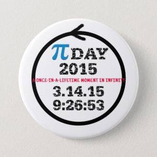 Badge Rond 7,6 Cm Bouton 2015 de célébration de jour de pi