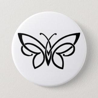 Badge Rond 7,6 Cm bouton celtique de papillon