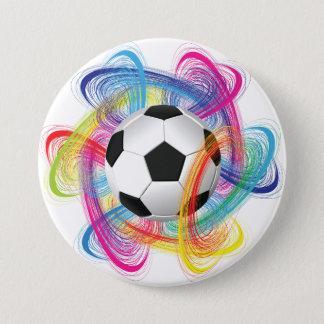 Badge Rond 7,6 Cm Bouton coloré de ballon de football