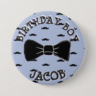 Badge Rond 7,6 Cm Bouton de Bowtie de moustache de Persoanlized de