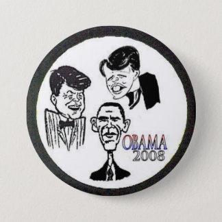 Badge Rond 7,6 Cm Bouton de caricature de JFK/RFK/BHO