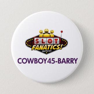 Badge Rond 7,6 Cm Bouton de Cowboy45 kc