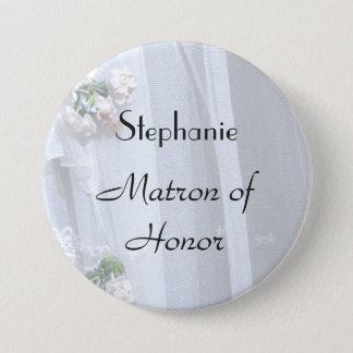 Badge Rond 7,6 Cm Bouton de dame de honneur personnalisé par