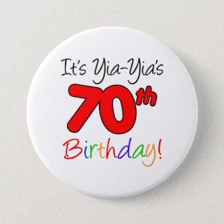 Badge Rond 7,6 Cm Bouton de fête d'anniversaire de l'étape