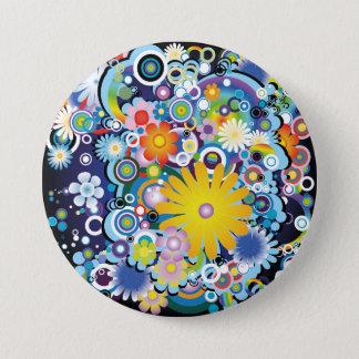 Badge Rond 7,6 Cm Bouton de flower power