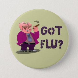 Badge Rond 7,6 Cm Bouton de grippe de porcs