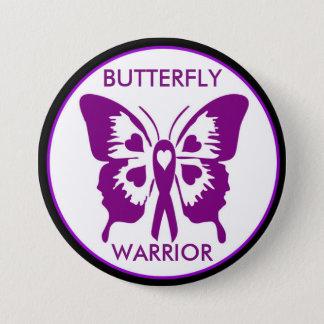 Badge Rond 7,6 Cm Bouton de guerrier de papillon