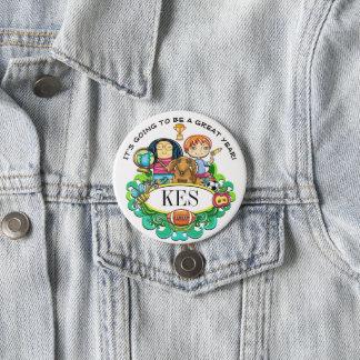 Badge Rond 7,6 Cm Bouton de maître d'école et de personnel