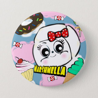 Badge Rond 7,6 Cm Bouton de Marshmella