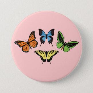 Badge Rond 7,6 Cm Bouton de papillon