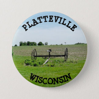 Badge Rond 7,6 Cm Bouton de Platteville le Wisconsin