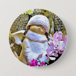 Badge Rond 7,6 Cm Bouton de saison des vacances d'ange de Noël joli