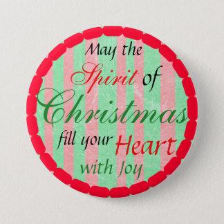 Badge Rond 7,6 Cm Bouton de saison des vacances d'esprit de Noël