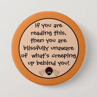 Badge Rond 7,6 Cm Bouton déplaisant d'araignée de Halloween