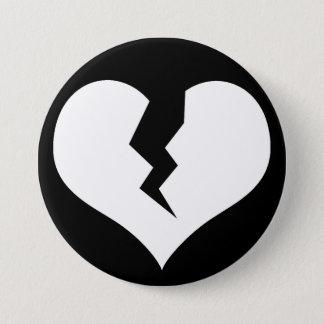 Badge Rond 7,6 Cm Bouton du coeur brisé/Pin