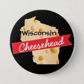 Badge Rond 7,6 Cm Bouton du Wisconsin Cheesehead
