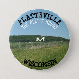 Badge Rond 7,6 Cm Bouton du Wisconsin de monticule de Platteville