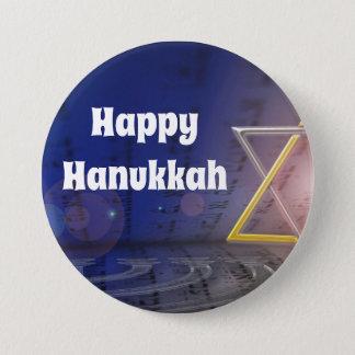Badge Rond 7,6 Cm Bouton heureux de judaïsme de Hanoukka
