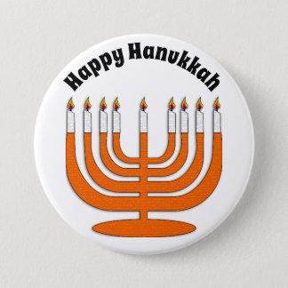 Badge Rond 7,6 Cm Bouton juif heureux de vacances de Hanoukka