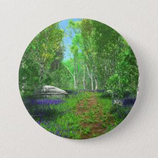 Badge Rond 7,6 Cm Bouton léger de jacinthe des bois