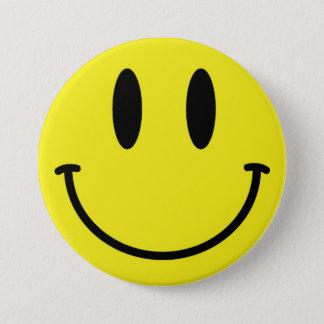 Badge Rond 7,6 Cm Bouton souriant de visage