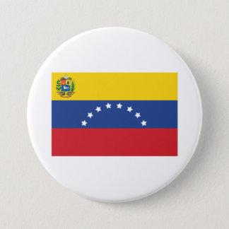 Badge Rond 7,6 Cm Bouton vénézuélien de drapeau