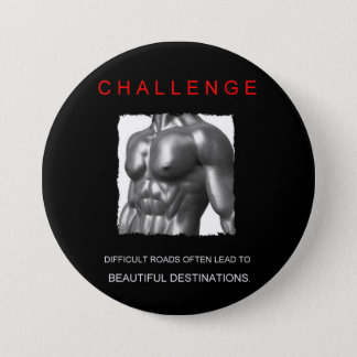 Badge Rond 7,6 Cm buts de motivation de défi de succès de sport