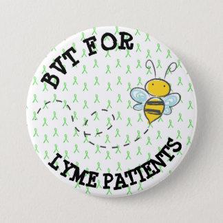 Badge Rond 7,6 Cm BVT pour des patients de Lyme