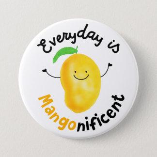 Badge Rond 7,6 Cm Calembour positif de mangue - quotidien est