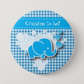 Badge Rond 7,6 Cm C'est un plaid de garçon, bleu et blanc avec