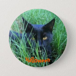 Badge Rond 7,6 Cm Chat de Halloween